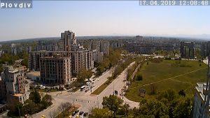 Уеб камера от Пловдив - от поркрива на жилищен блок в жк Тракия