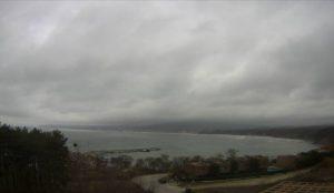 Уеб камера от Бяла, област Варна - панорама към Черно море.