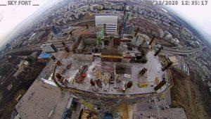 Уеб камери от София - изграждането на Sky Fort - първият небостъргач в България