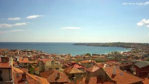 Уеб камера от Созопол - панорама от х-л Бобчев