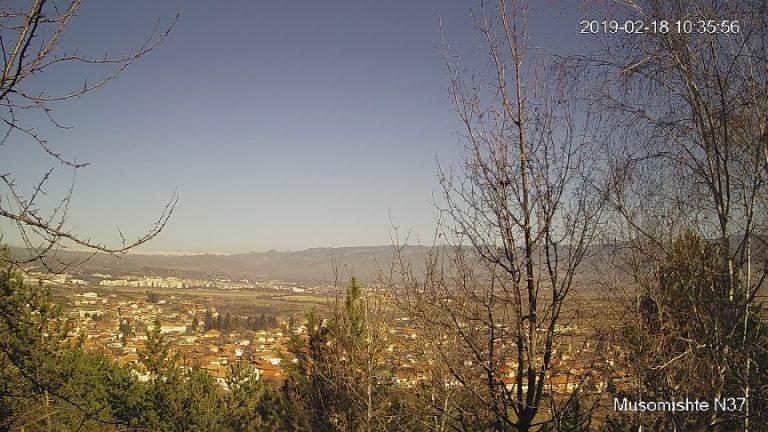 Уеб камера от района на Гоце Делчев - панорама от с. Мусомище.
