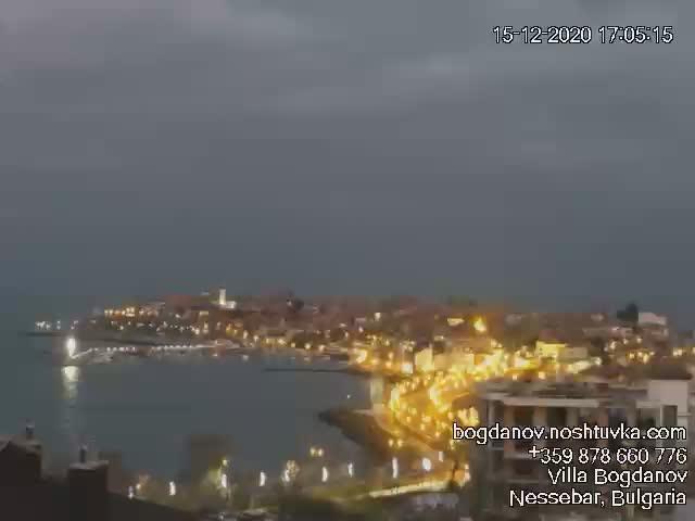 Уеб камера от гр. Несебър - панорама към стария град
