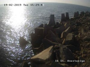 Уеб камера от остров Света Анастасия - панорама към Черно море