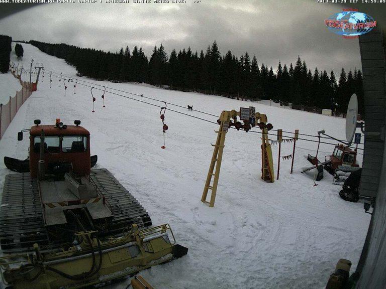 Уеб камера от ски център в планината Апусени, 1150 м.н.в