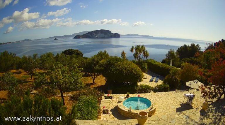 Уеб камери от Закинтос, Южна Гърция - панорама към Йонийско море.