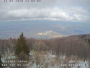 Уеб камера от Витоша - панорама над София от ресторант Момина скала 1500 м.н.в.