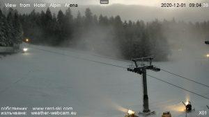 Подвижна 5MP HD уеб камера от Боровец - хотел Алпин Арена с панорамна гледка към пистите.