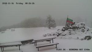Уеб камера от xижа Дерменка, 1540 м.н.в. в Троянската планина, дял от Средна Стара планина.