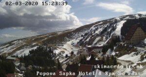 Уеб камери от Попова шапка - ски курорт в Македония, Шар планина, на 18 км от Тетово и на 1750 м.н.в.