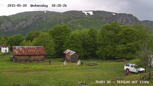 Уеб камера от xижа Триглав (1400 м), под масив Триглав (2275 м) - част от Калоферска планина, южно от Главното Старопланинско било