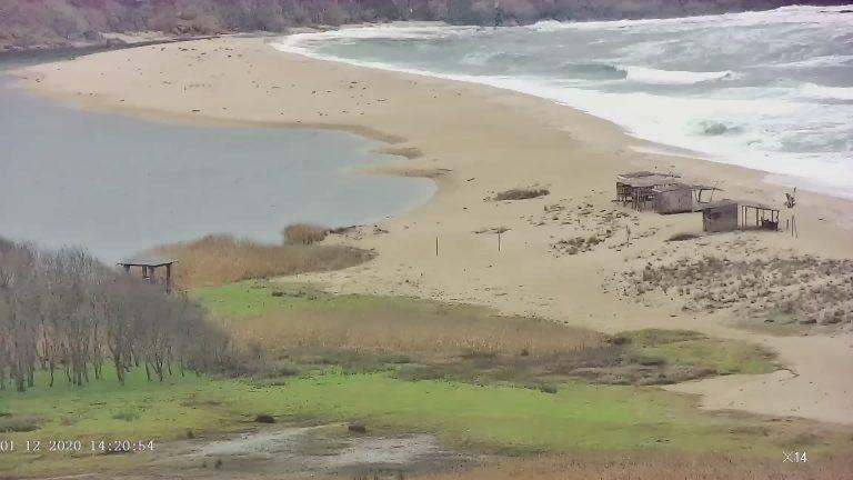 Уеб камера от Синеморец - панорама към р. Велека и Черно море