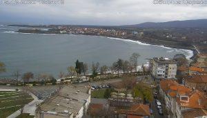Подвижна HD уеб камера от Царево с панорамен поглед към центъра, брега и Черно море.