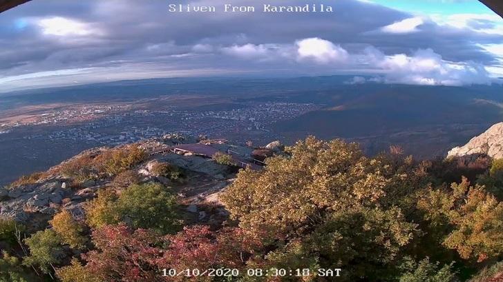 Уеб камера от Сливен - панорама от Карандила на 1000 м.н.в.