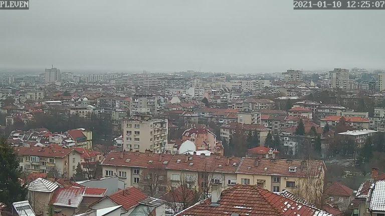 Подвижна HD уеб камера от Плевен, монтирана в 9-ти квартал с панорамен поглед над града