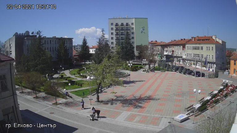 Уеб камера от Елхово - ул. Търговска в центъра на града.
