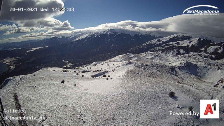 Уеб камера от Галичица - ски курорт н ад Охридското Езеро на 1550м