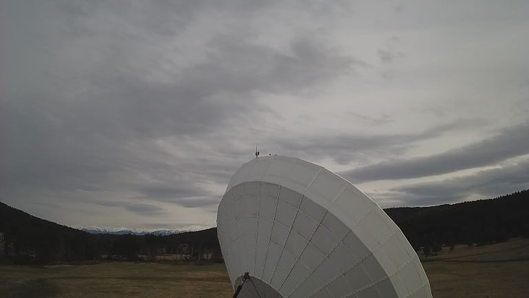 Уеб камера от телепорт Плана - станция за космически връзки